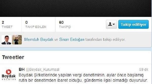 Boydak Holding'den Twitter'da Vergi Denetimi Açiklamasi