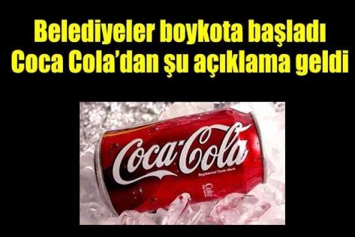 Boykot üzerine Coca Cola'dan açıklama geldi
