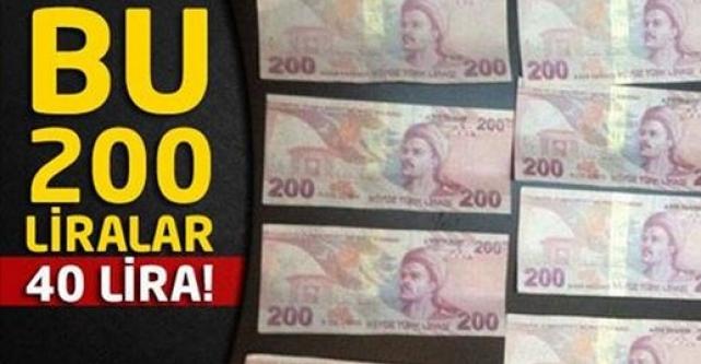Bu 200 liralar 40 lira!