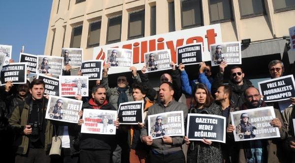 Bünyamin Aygün Için Milliyet Gazetesi Önünde Eylem