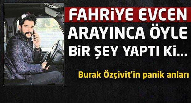 Burak Özçivit'i Fahriye Evcen arayınca...