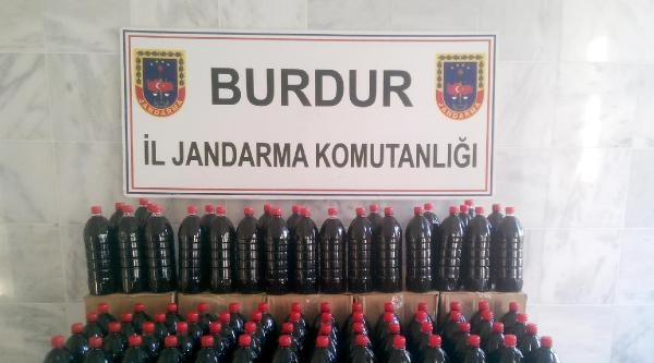 Burdur'da 213 Litre Kaçak Şarap Ele Geçirildi