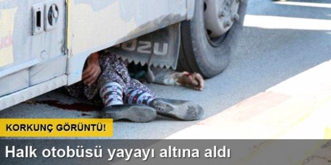 Burdur'da halk otobüsü yayayı ezdi..