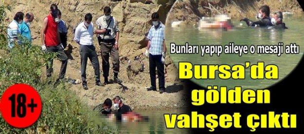 Bursa'da gölden vahşet çıktı!