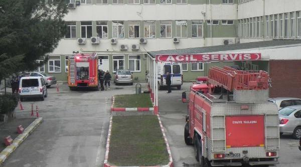 Bursa'da Hastanede Çikan Yangin Korkuttu