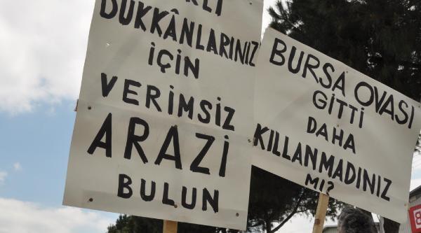 Bursa'da Köylülerin Sanayi Sitesi Protestosu