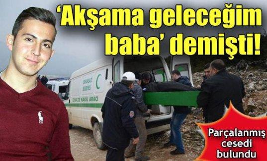 Bursa'da parçalanmış erkek cesedi bulundu