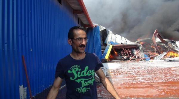 Bursa'da Tekstil Fabrikasında Yangın- Ek Fotoğraflar