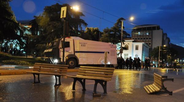 Bursa'daki Eylemlere Polis Müdahale Etti (ek Fotoğraf)