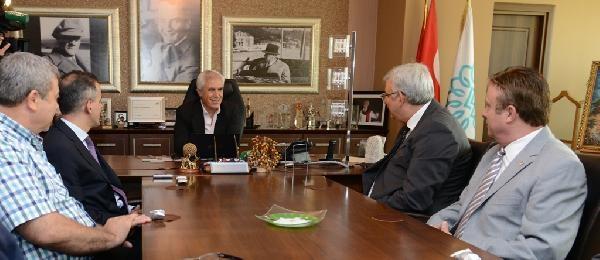 Bursaspor Başkanından Teşekkür Ziyareti
