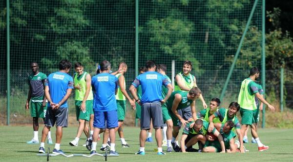 Bursaspor'da Holmen İlk Antrenmanında
