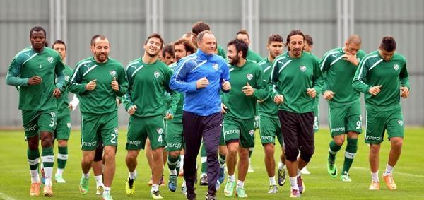 Bursaspor'da Tek Antrenman