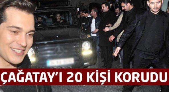 Çağatay Ulusoy'u 20 kişi korudu
