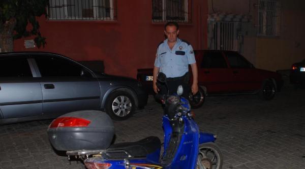 Çaldiği Motosikletle Yakalandı