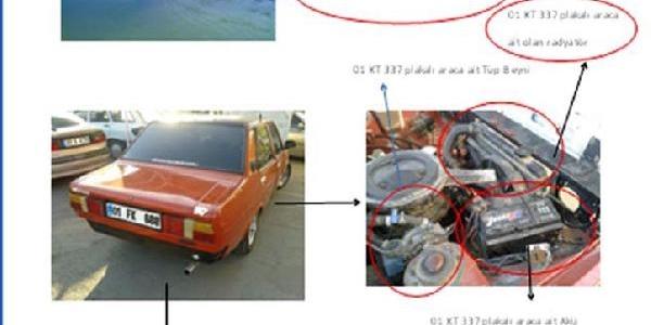Çaldiklari Otomobilin Parçalarini Hurda Araca Takip Kullanmişlar
