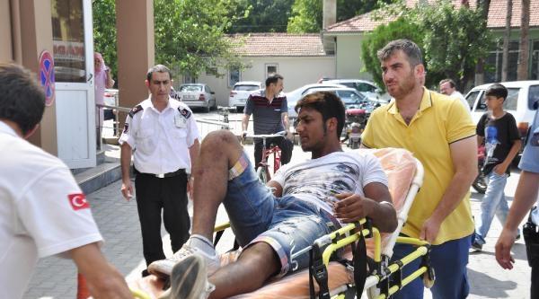 Çalinti Motosikletle Kaza Yapınca Yakalandı