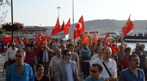 Çanakkale'de 'bayrak Yürüyüşü'