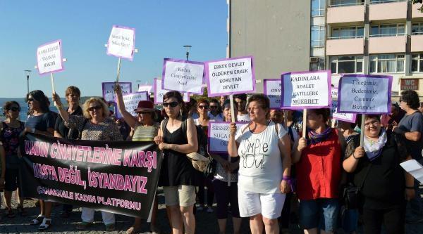 Çanakkale'de 'kadın Cinayetlerine Dur' Eylemi