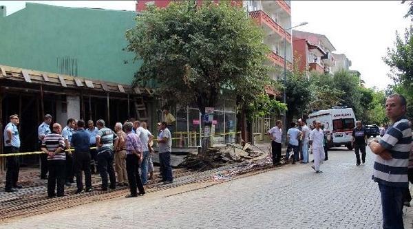 Çan'da İnşaat Çöktü: 1 İşçi Yaralandı