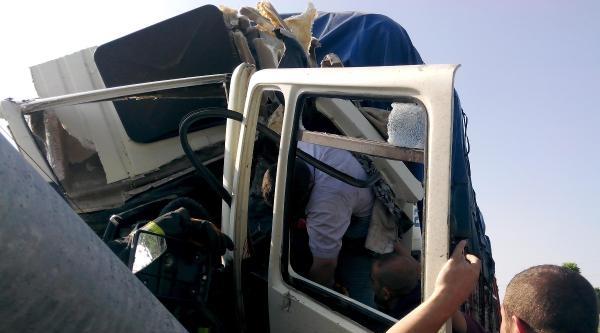 Çankiri'da Direğe Çarpan Kamyonun Sürücüsü Öldü