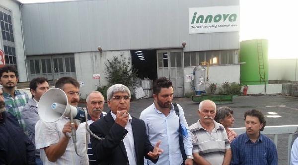 Çayirova'da Lastik Geri Dönüşüm Tesisi Protestosu