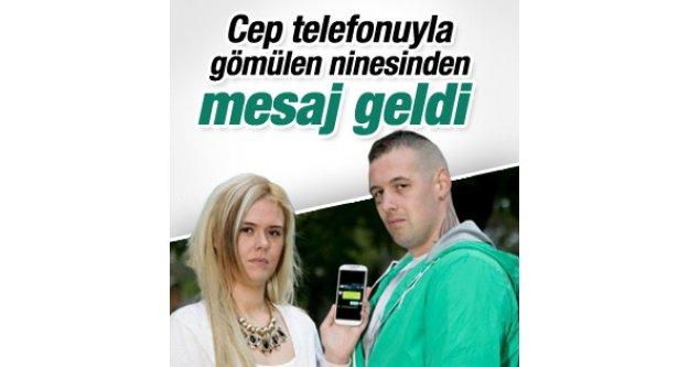 Cep telefonuyla gömülen kadından torununa mesaj geldi