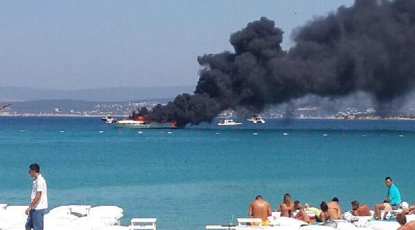 Çeşme'de Tekne Yangını - Ek Fotoğraflar
