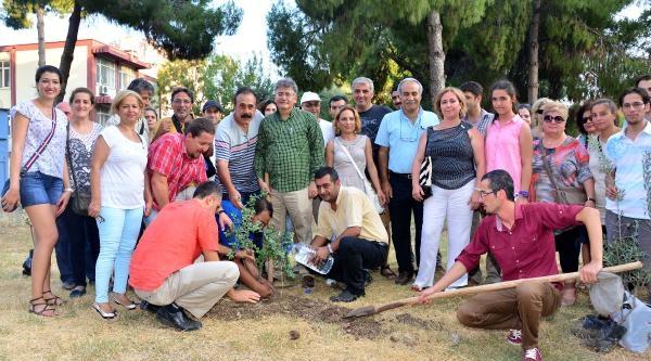 Çevreciler Ek Bina Yapılacak Hastane Bahçesine Fidan Dikti