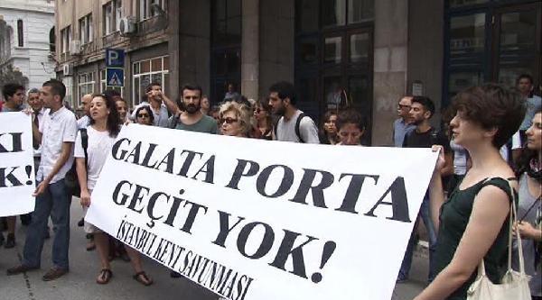 Çevrecilerden Olaylı Galataport Protestosu (1)