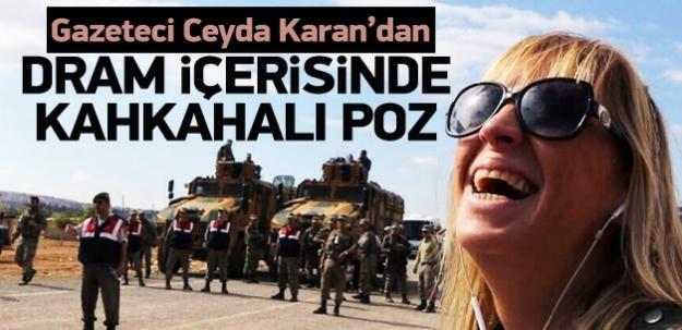 Ceyda Karan'dan kahkahalı Kobani pozu