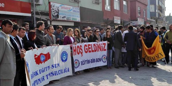 Ceylanpinar'da Eğitimcilerden Eylem