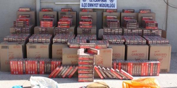 Ceylanpinar'Da Kaçak Sigara Ele Geçti: 2 Gözalti