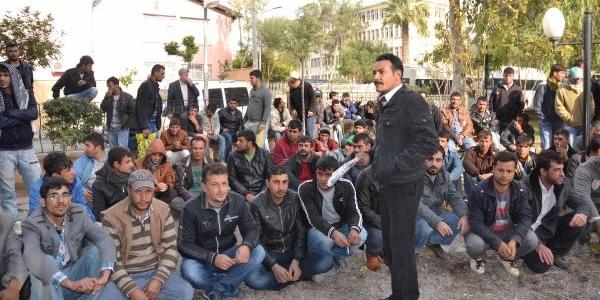 Ceylanpinar'da Taşeron Işçilerden Eylem
