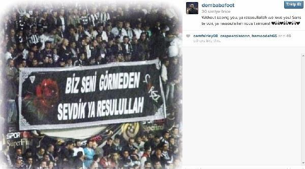 Chelsea'nin Golcüsü Demba Ba'dan Beşiktaş Taraftarını Heyecanlandıran Paylaşım