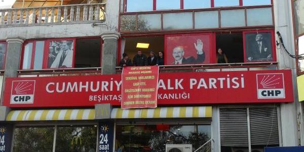 Chp Beşiktaş Ilçe Başkanliği'nda Beltaş Protestosu