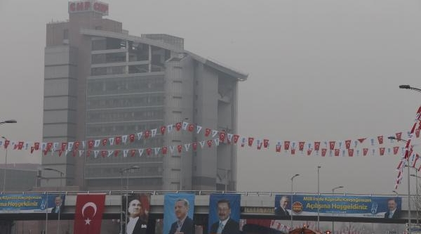 Chp Genel Merkezi Önüne 'milli Irade' Kavşaği