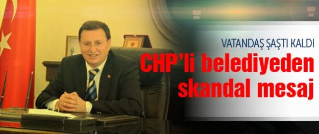 CHP'li belediyeden skandal kutlama mesajı