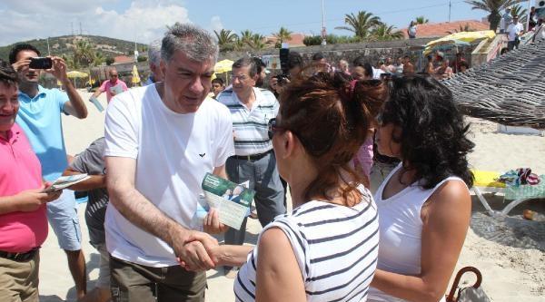 Chp'liler, İhsanoğlu'na Plajda Oy İstedi