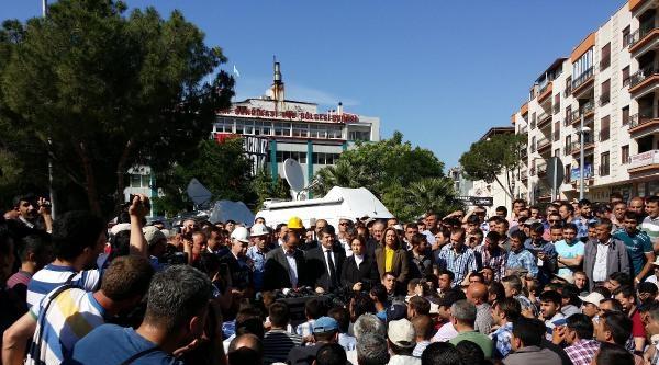 Chp'liler Sessiz Eylem Yapan Madencileri Ziyaret Etti (2)