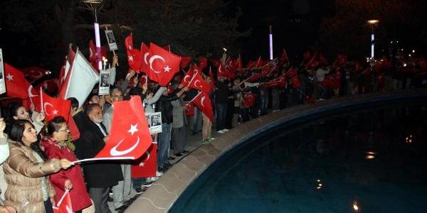 Chp'lilerden Erzurum'da Cumhuriyet Yürüyüşü