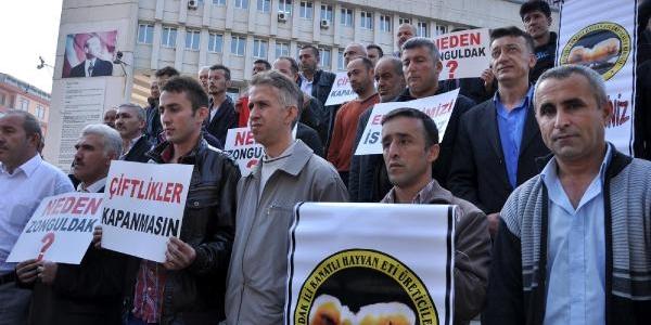 Çiftlikleri Mühürlenen Tavuk Üreticilerinden Protesto