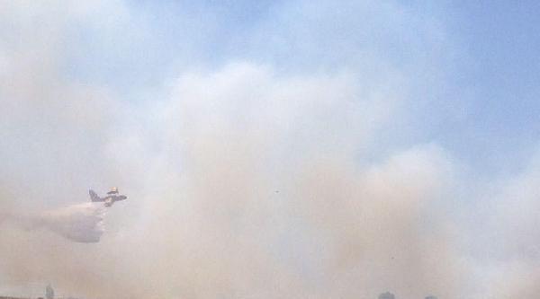 Çiğli'de Askeri Arazide Yangın