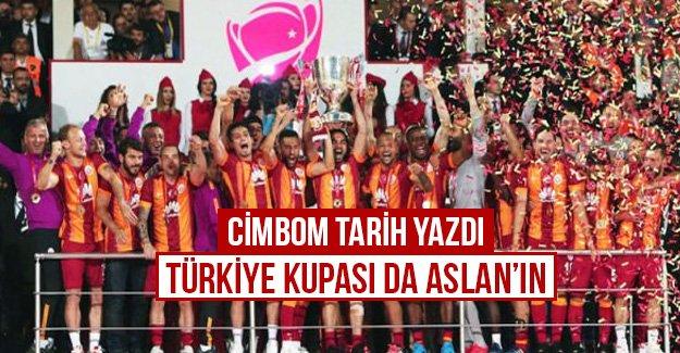 Cimbom tarih yazdı Türkiye kupasıda Aslan'ın...