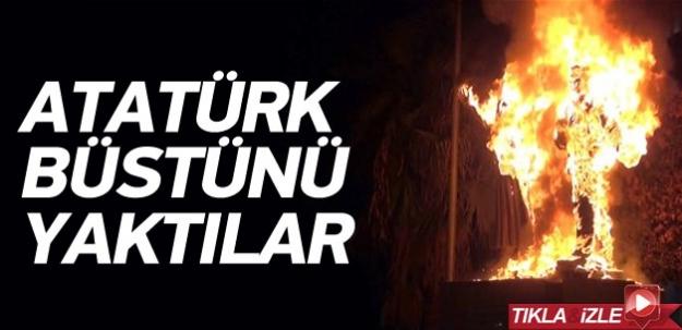 Cizre'de Atatürk büstüne saldırı