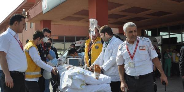 Cizre'de Hastanede Yangin Tatbikati