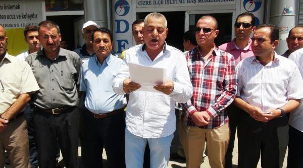 Cizre'de Stk'lardan Elektrik Kesintisi Protestosu