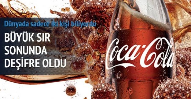 Cola'nın formülünü çözdüğünü iddia etti