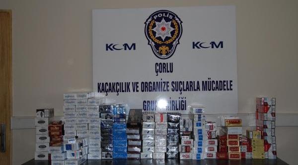 Çorlu'da Kaçak Sigara Operasyonu