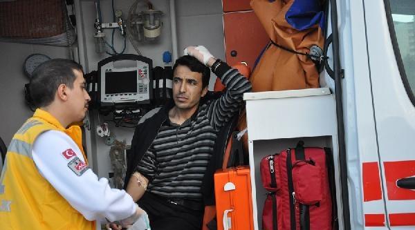Çorum'da Parmağı Kopan Öğretmene Ambulans Helikopter