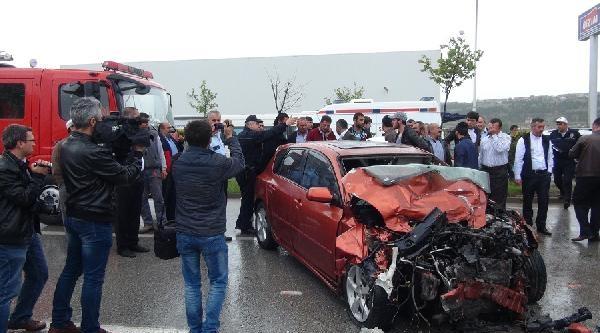 Çorum'daki Kazada Belediyespor Futbolcusu Erol İle Birlikte 4 Kişi Yaralandı